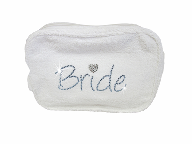 Bride Cosmetic Bag in Terry Cloth