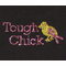 Rhinestone Transfer: Tough Chick Breast Cancer Design