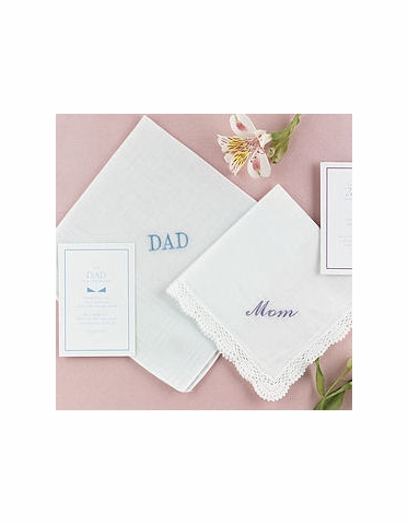 CLEARANCE: Embroidered Wedding Hankie for Dad