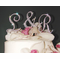 Three Piece Crystal Cake Initials and Ampersand