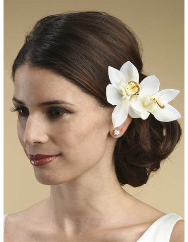 Lovely Orchid Flower Hair Combs