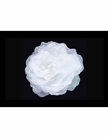 Special Collection Magnolia Hair Flower with Lace Petals S2133