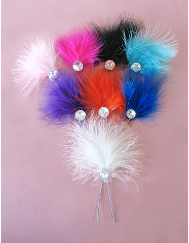 Marabou and Crystal - Variety of Colors