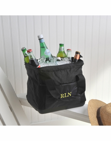 Embroidered Insulated Wide-Mouth Cooler Bag