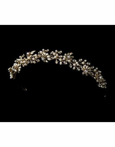 Floral Design Bridal Headband Tiara
