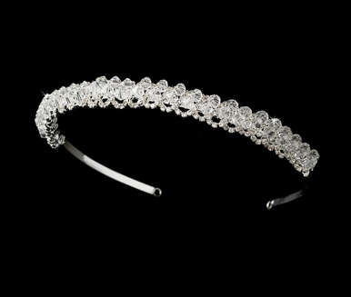 Crystal and Rhinestone Loops Bridal Headband