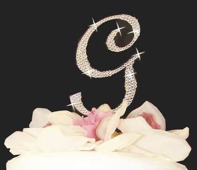 Small Crystal Covered Cake Letter