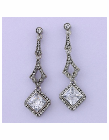 Silver Austrian Crystal & Cubic Zirconia Earrings
