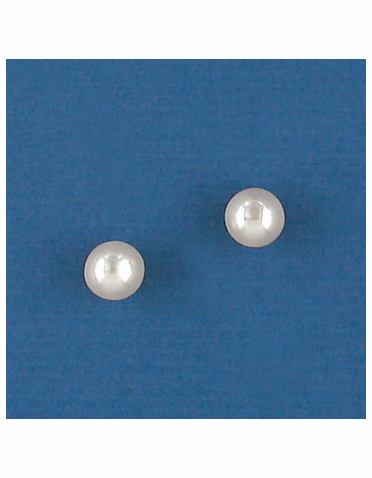 White or Ivory Pearl Stud Earrings