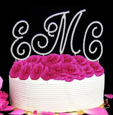 Crystal Monogram Cake Top Letters - 3 Piece Set
