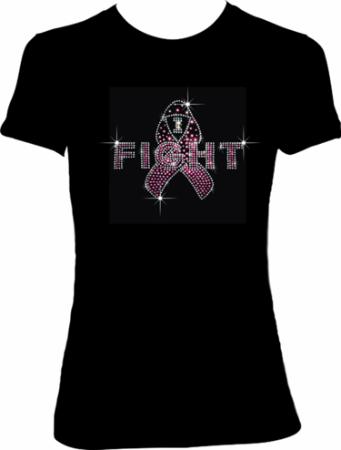 """I Fight"" Pink Ribbon Breast Cancer Shirt"