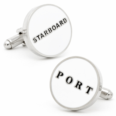 Nautical Port Starboard Cufflinks