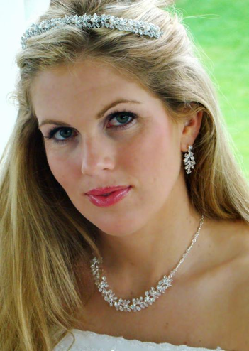 Matching Crystal Bridal Tiara and Jewelry Set