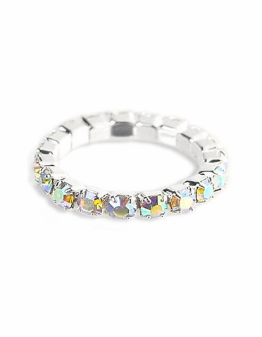 AB Iridescent Crystal Toe Ring - Eternity Style Stretch Toe Ring