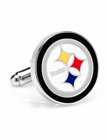 Steelers Silver Finish Cufflinks