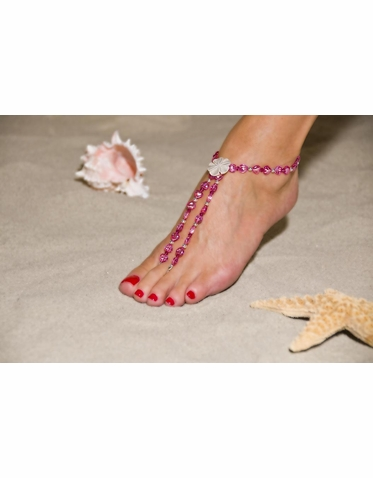 Enchanting Fuchsia And Soft Pink Barefoot Sandals