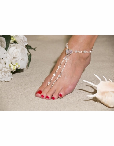 Clearly Love Barefoot Sandals - Beach Wedding Foot Jewelry