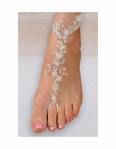 Clear Crystal Barefoot Foot Jewels - Barefoot Sandals