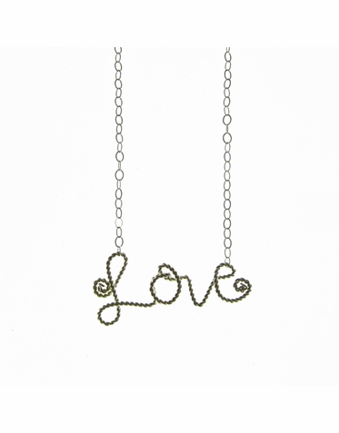 Love Charm Necklace in Silver