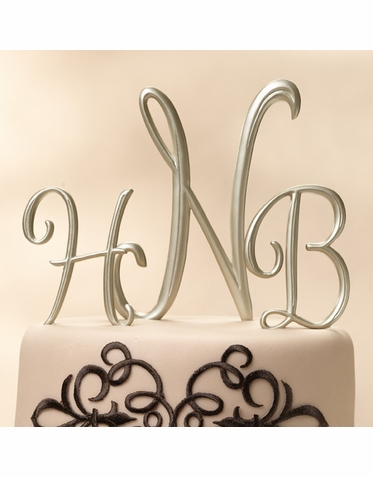 Gold Monogram Cake Topper Letters - Gold Table Numbers