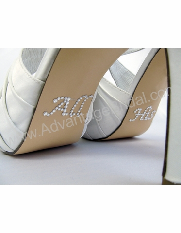 All His Shoe Stickers for Wedding Shoes in Clear