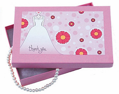 Gerber Daisy Thank You Box from the Bride