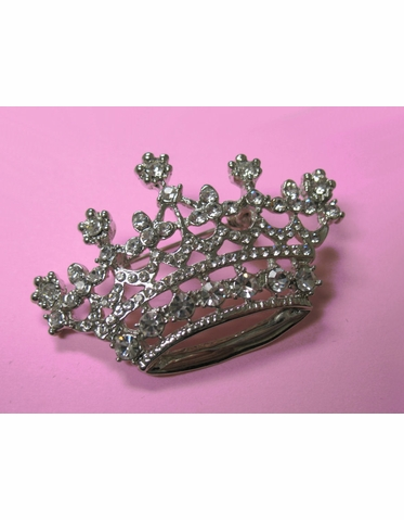 CLEARANCE: Sparkling Tiara Brooch with Austrian Crystals