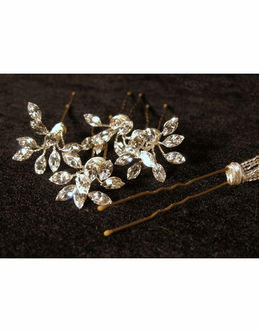 Marquis Cut Crystal Hair Pins