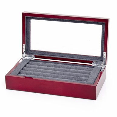 Cufflink Storage Case In Mahogany