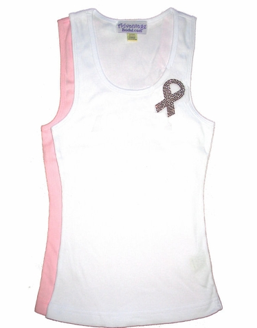 Rhinestone Awareness Ribbon Tank or Tee
