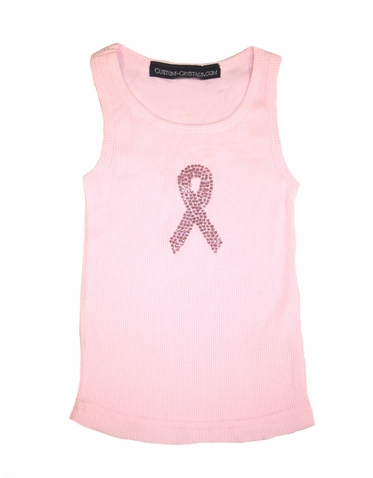 Girls' Pink Ribbon Breast Cancer Tank Top