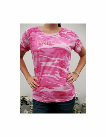 Pink Camouflage Warrior Pink Ribbon T-Shirt