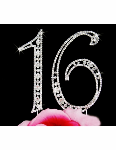 16th Birthday Cake Topper - Sweet Sixteen Cake Topper