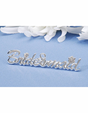 Silver Bridesmaid Pin or Silver Bridesmaid Charm