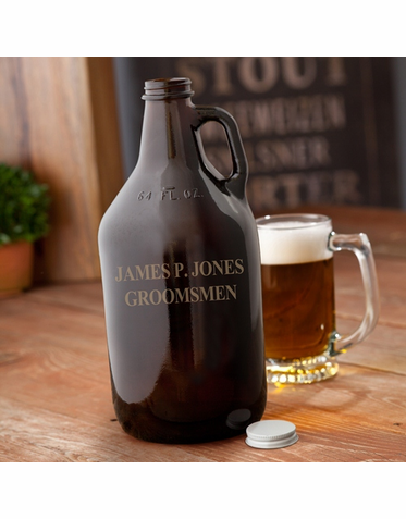 Amber Home Brew Personalized Growler