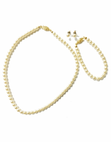 Pearl Jewelry Set in Custom Colors: Perfect for Bride, Bridesmaids or Flower Girl!