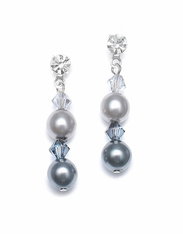 Custom Two-Tone Drop Pearl Earrings In 26 Gorgeous Colors