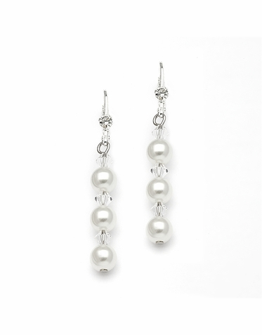 Custom Pearl And Crystal Earrings In 26 Gorgeous Colors
