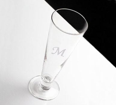 Personalized Pilsner Glass Classic Design
