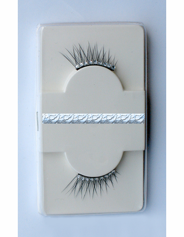 Crystal Embellished Slanted Glitter Lashes