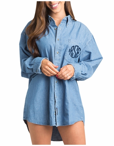 Embroidered Monogrammed Bridal Party Shirt