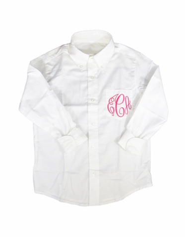Flower Girl Button Down Oxford Shirt