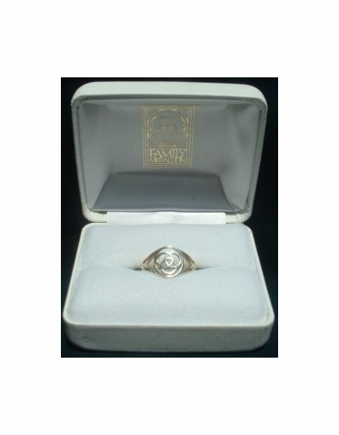 Family Medallion® Silver Youth Ring or Ladies Ring