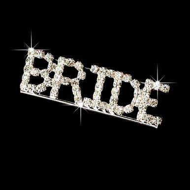 Rhinestone Bride Pin - Bride Brooch