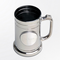 Personalized Gunmetal Mug with Pewter Medallion