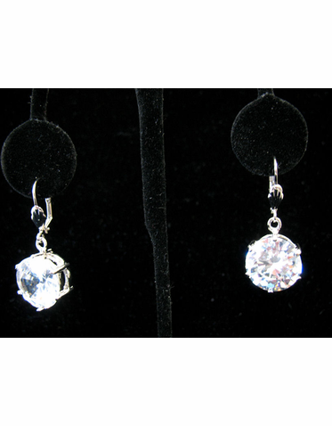Cubic Zirconia Jewelry Collection Super Size Crystal Earrings