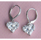 Cubic Zirconia Jewelry Collection Heart Earrings