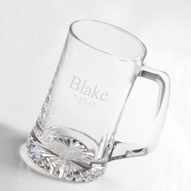Personalized Glass Beer Mug 25 Ounce