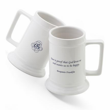 Famous Quote Personalized Beer Stein