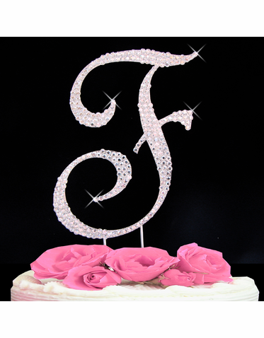 Letter Cake Topper Cake Initial Toppers F